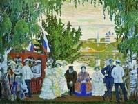 """Картина Кустодиева Б.Н.,  """"Гуляние"""""""